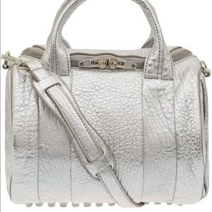 ✔️💯% Authentic Alexander Wang Silver Rockie Bag